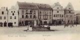 Tachov Panský jižní část nám. kolem r. 1900 pivovar vpravo